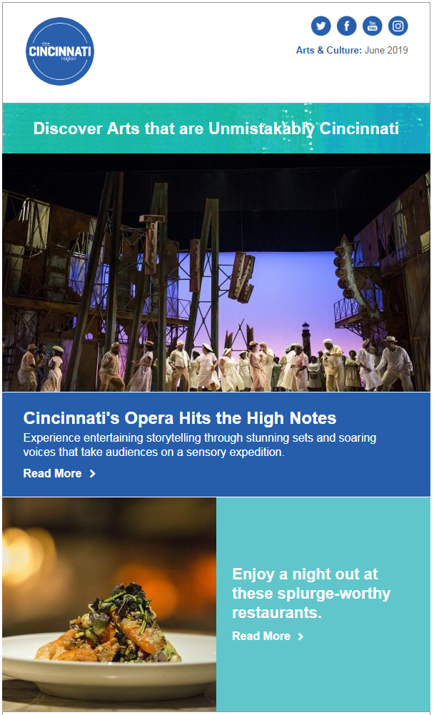 Arts & Culture e-Newsletter screenshot