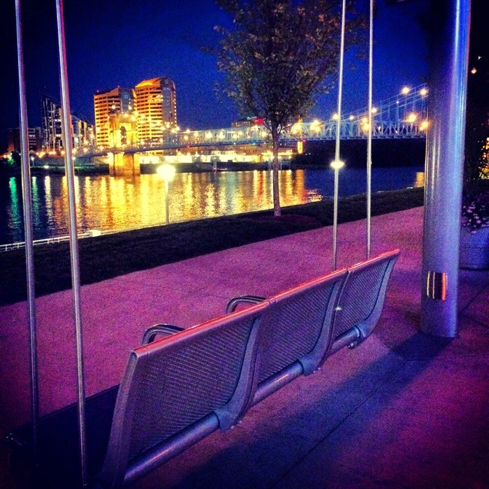 Swings at Smale Riverfront Park