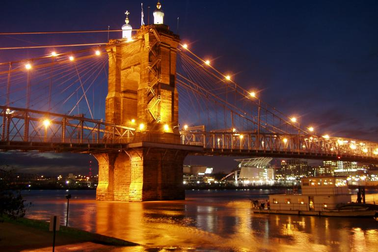 Roebling Suspension Bridge Photo #2