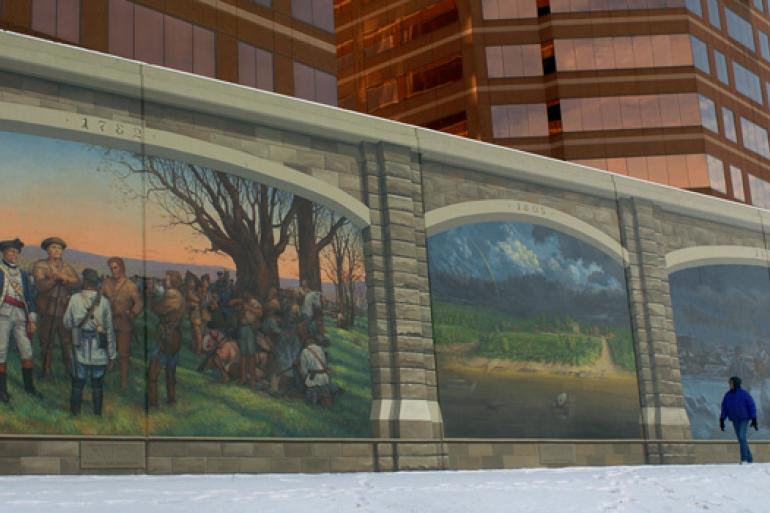 Riverfront Floodwall Mural Tour Photo #1