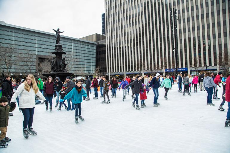 Fountain Square Ice Rink Photo #1