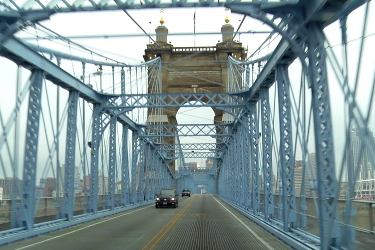 Roebling Suspension Bridge Photo #6