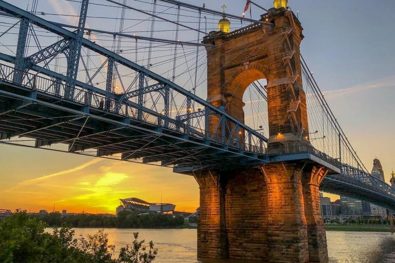 Roebling Suspension Bridge Photo #8