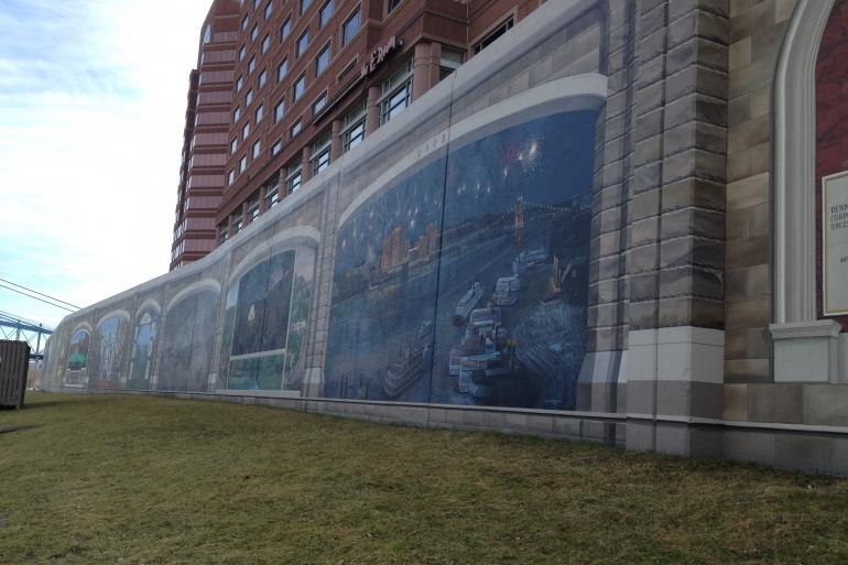 Riverfront Floodwall Mural Tour Photo #3