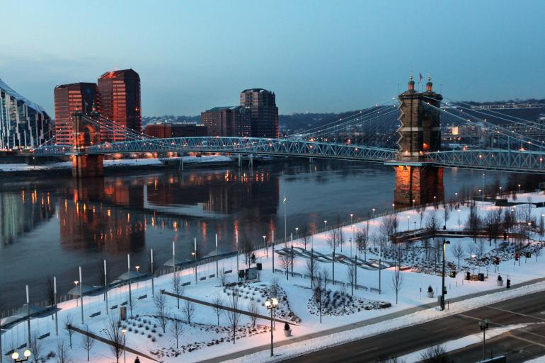 Roebling Suspension Bridge Photo #7