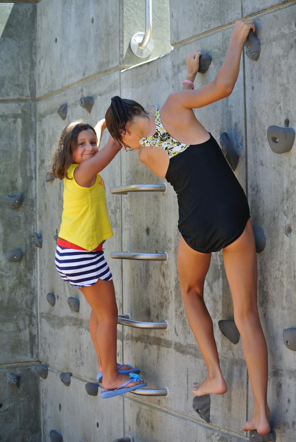 Climbing wall at Smale Riverfront Park (photo: Laura Hoevener)