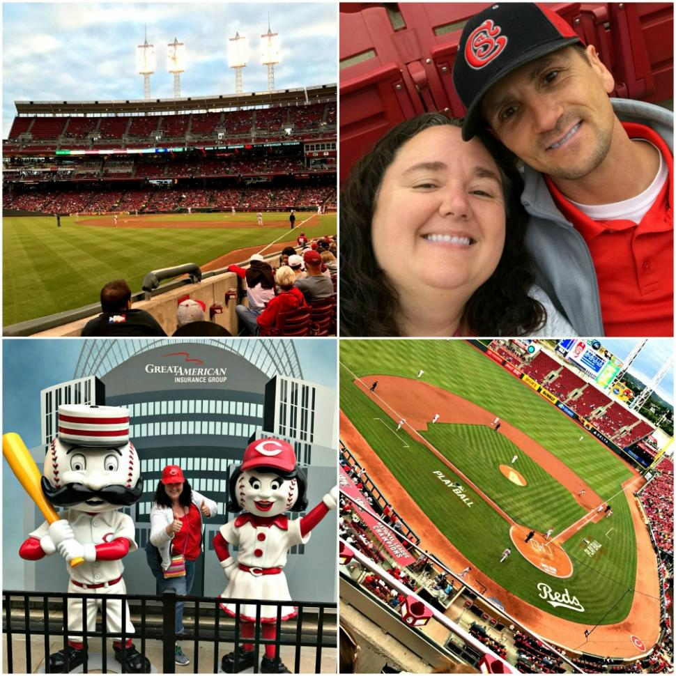 At a Cincinnati Reds game (photo: Heather Johnson)