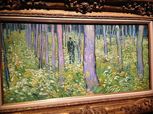 "Van Gogh's ""Undergrowth With Two Figures"" at Cincinnati Art Museum (photo: Julie Niesen)"