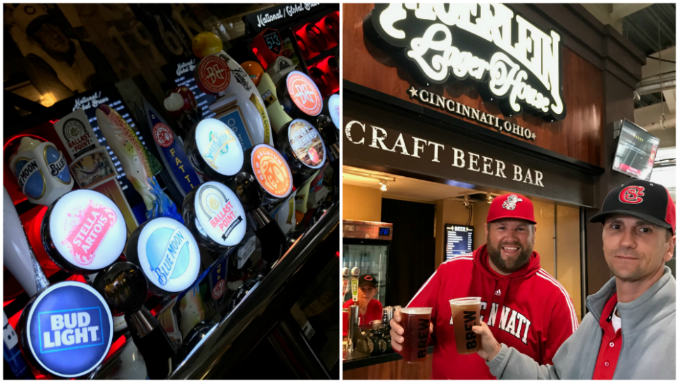 Beer options at Great American Ball Park (photo: Heather Johnson)