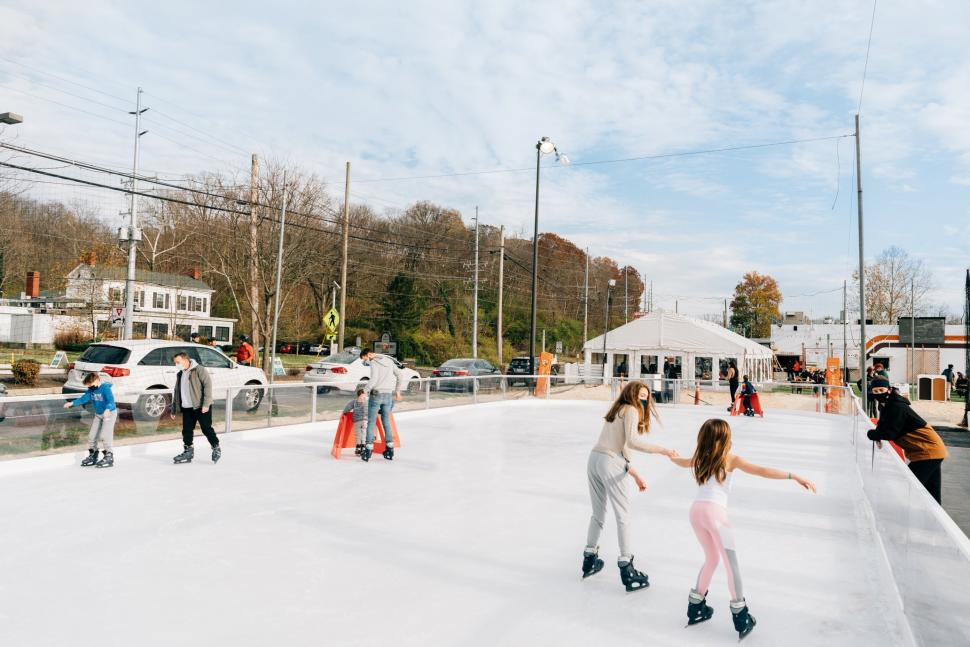 Ice skating at the Fifty West Brewing Company ice rink (photo: Fifty West Brewing Company)
