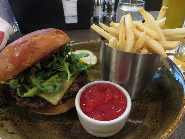 Bison Burger from Red Roost Tavern (photo: Thadd Fiala)