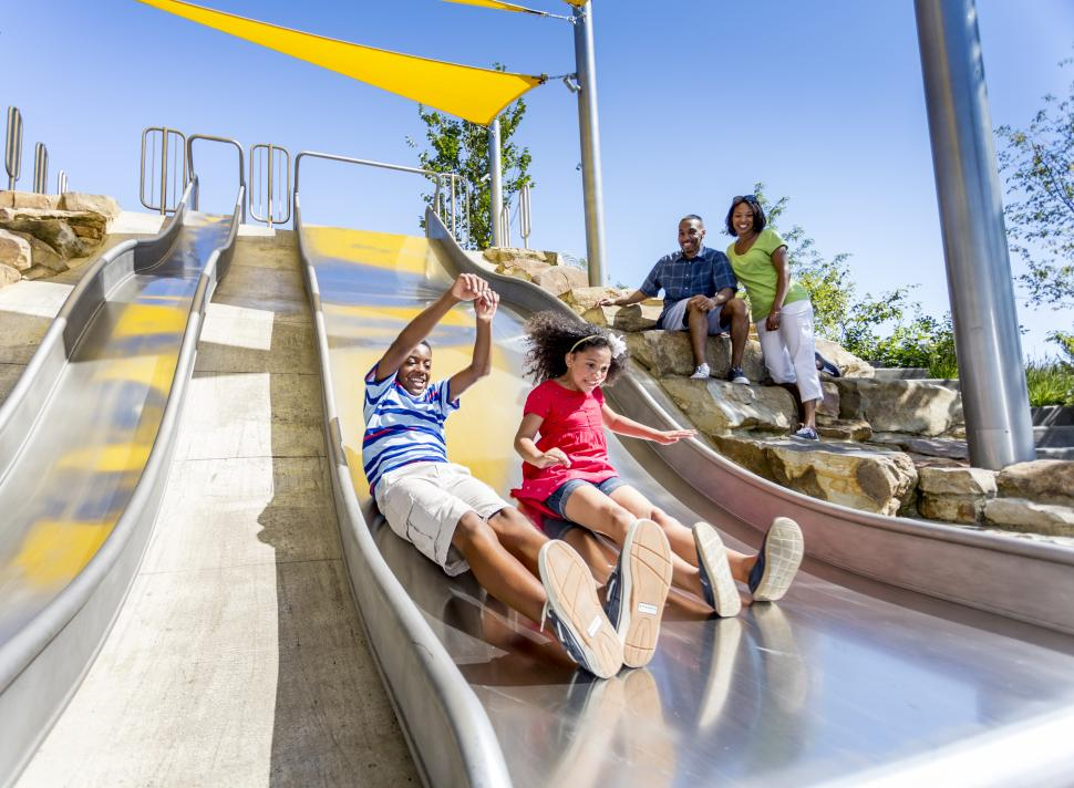 Slides at Smale Riverfront Park