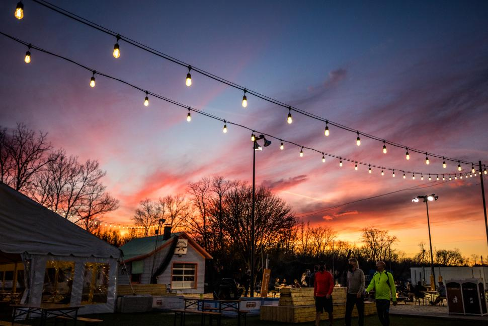 Fifty West Brewing outdoor dining