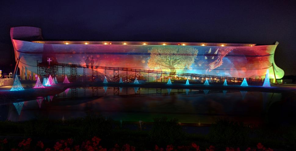 "ChristmasTime at the Ark's laser projection show ""Encounter the Wonder"""