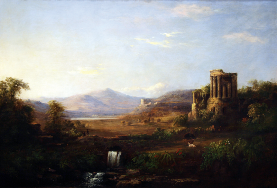 Duncanson, Landscape with Classical Ruins, 1859, Springfield Museum of Art