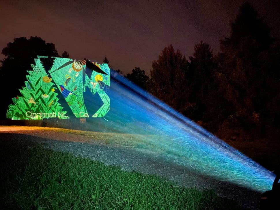 Light display at Light in the Forest (photo: Cincinnati Nature Center)