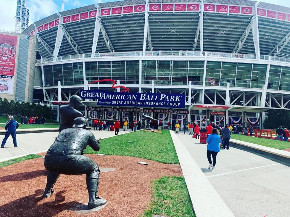 Entrance to Great American Ball Park (photo: @blahopics)