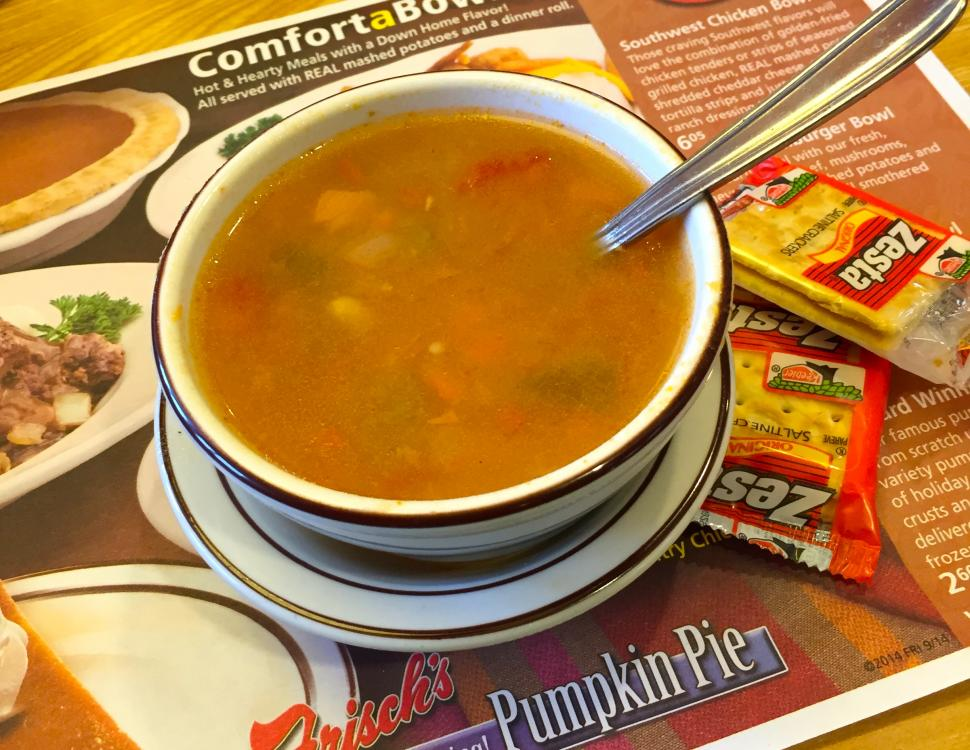 Vegetable soup at Frisch's (photo: Erin Woiteshek)