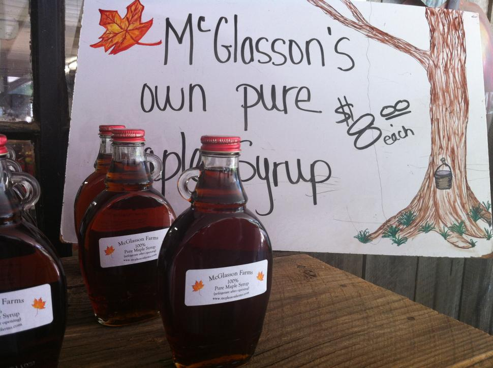 Maple syrup at McGlasson Farms