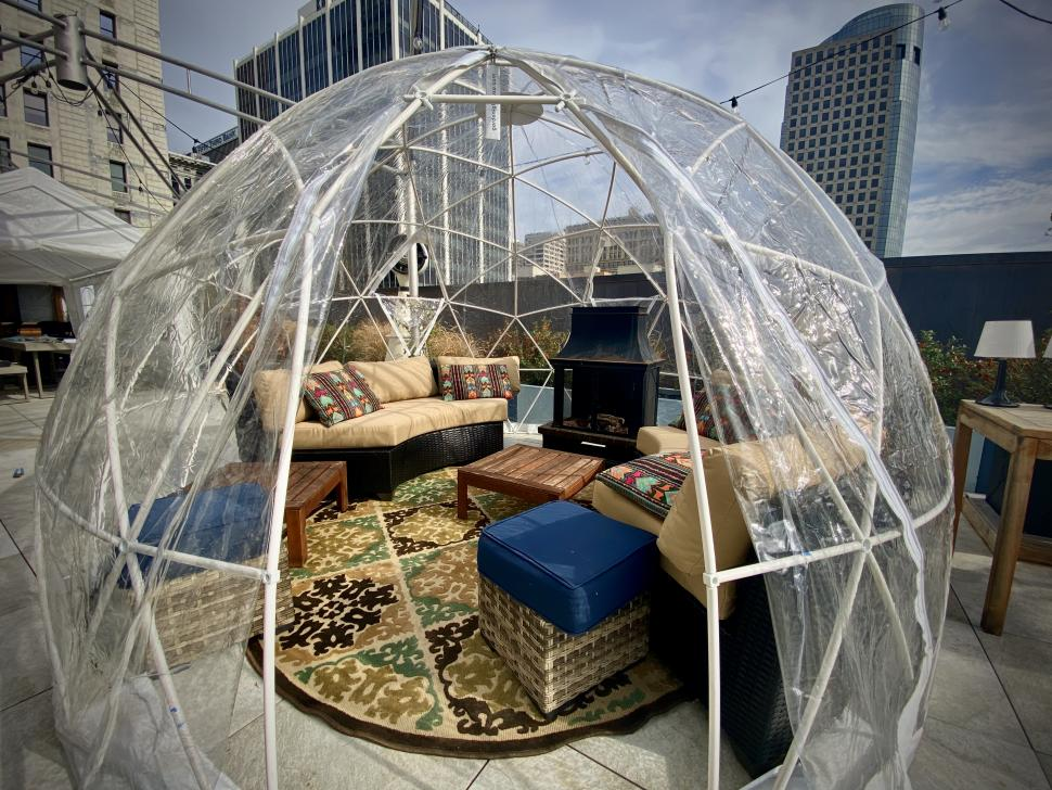Igloos at The View at Shires' Garden (photo: Ignite Entertainment Cincinnati)