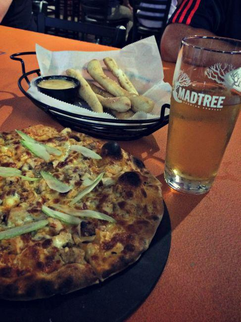 Catch-a-Fire Pizza at Madtree Brewing Company (photo: Katie Scheper)