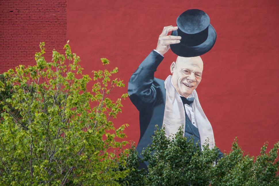Mr. Tarbell Tips His Hat - Mural (photo: Ronald M. Salerno)