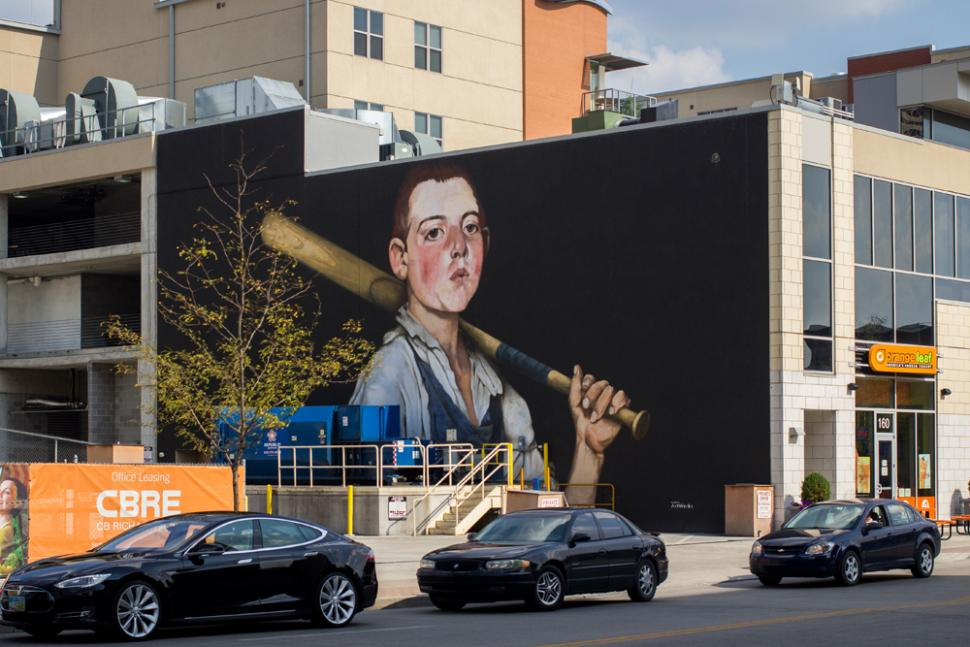 The Cobbler's Apprentice Plays Ball mural (photo: Ronald M. Salerno)