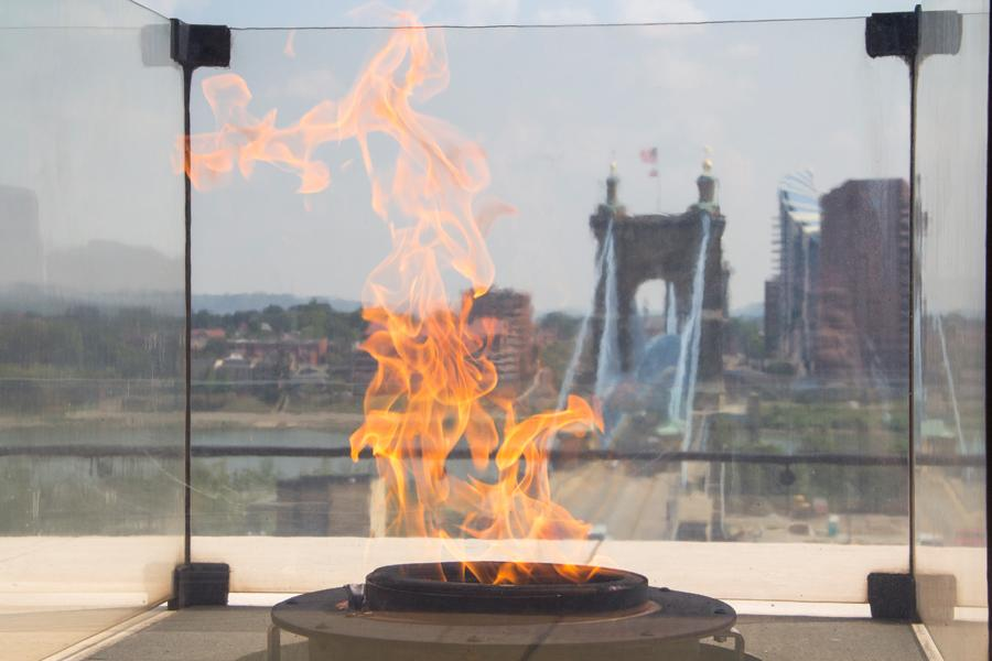 Eternal Flame at Freedom Center (photo: Ronald M. Salerno)