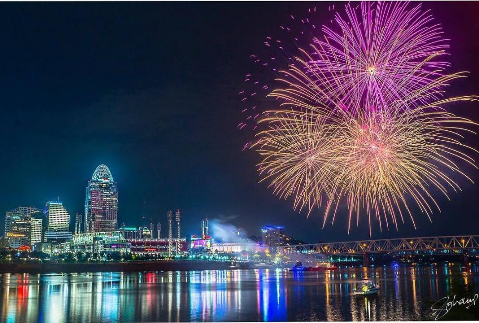 Fireworks at Great American Ball Park (photo: @sohamparikh1)