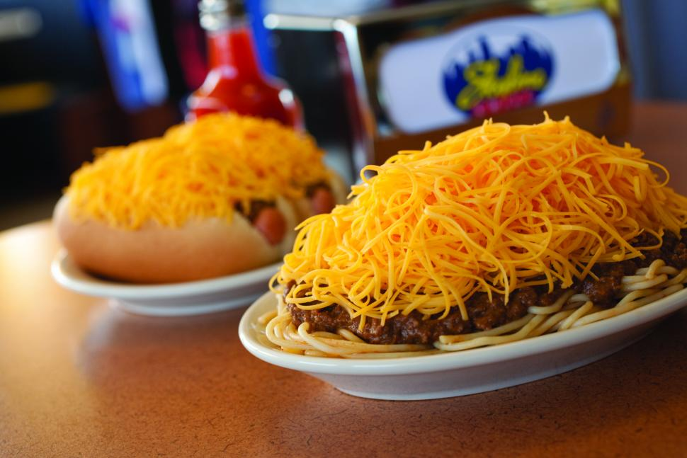 Skyline 3 Way with Coney (photo: Skyline Chili)