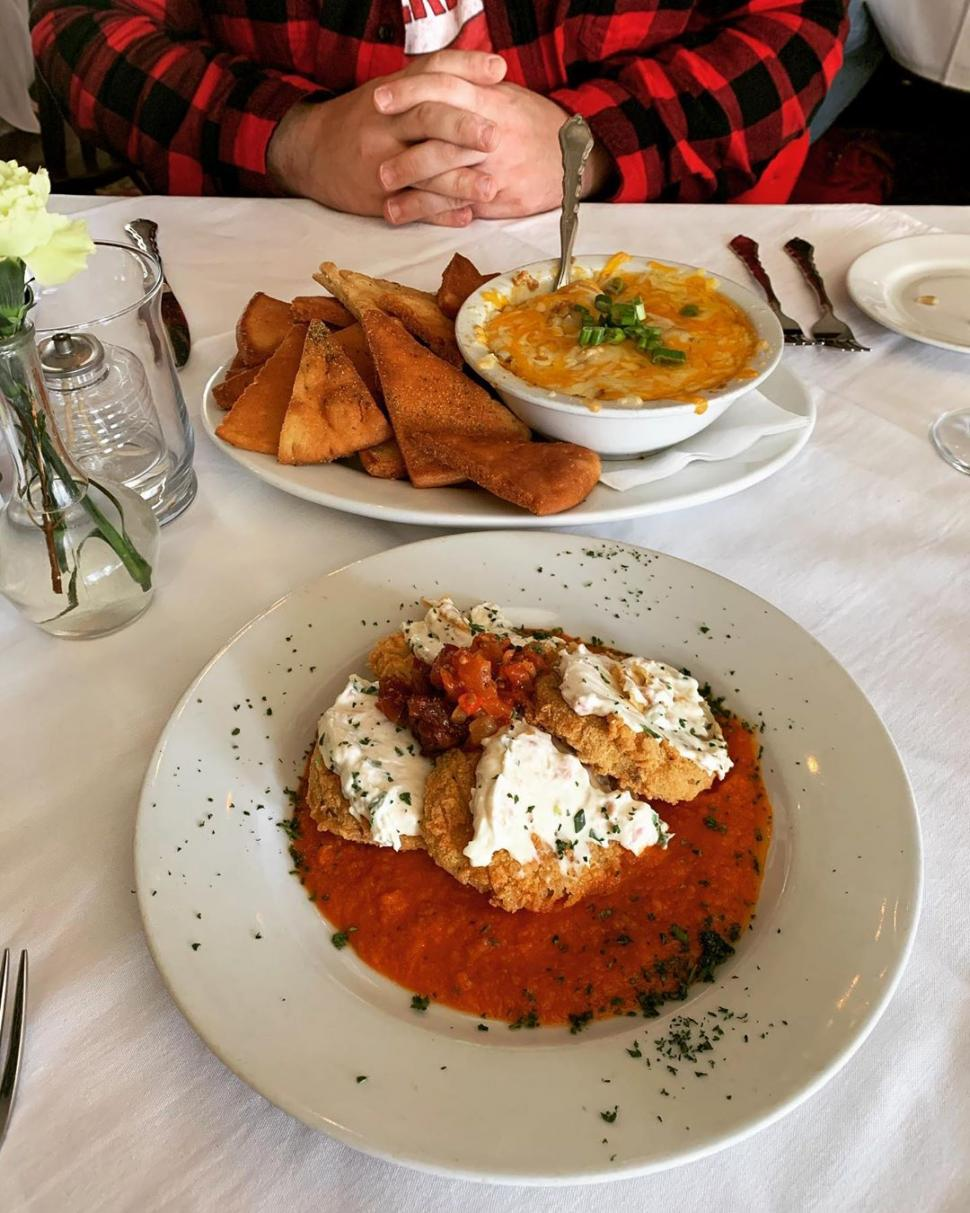 Fried green tomatoes and hanky panky at Tousey House (photo: @_bridge_t)