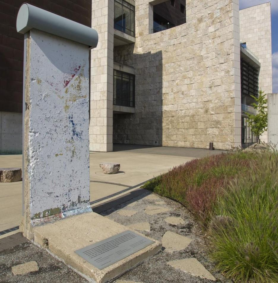 The Freedom Center's Piece of the Berlin Wall (photo: Ronald M. Salerno)