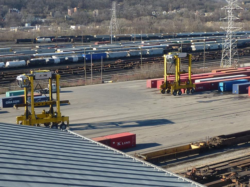 View of the trains from Tower A at Cincinnati Museum Center at Union Terminal (photo: Laura Hoevener)