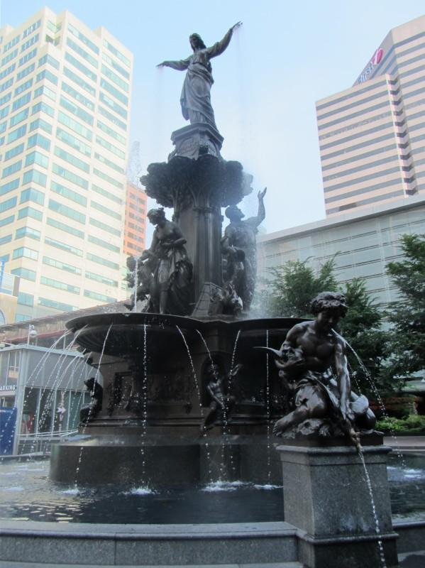 Tyler Davidson Fountain on Fountain Square