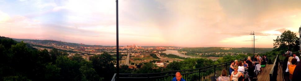 Panoramic view from Incline Public House