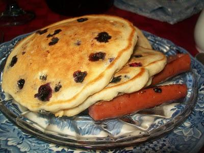 Blueberry pancakes at Weller Haus Bed & Breakfast