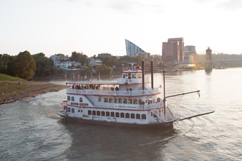 BB Riverboats on the Ohio River with the Northern Kentucky skyline in the background (photo: Alias Imaging)