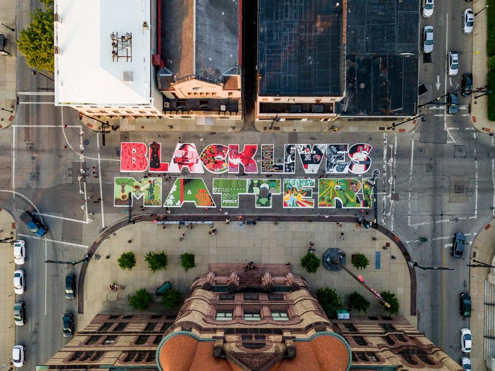Black Lives Matter Mural (photo: Empower Media Marketing)
