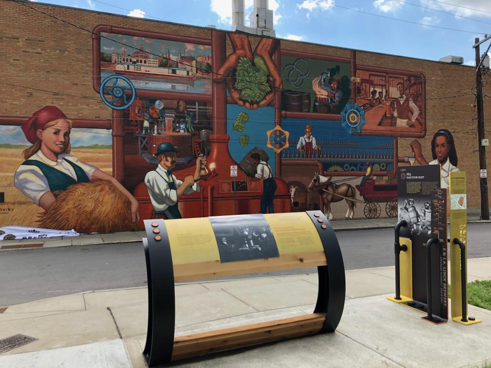 Mural on the Brewing Heritage Trail (photo: Julie Brock)