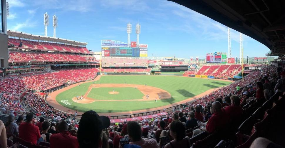 Cincinnati Reds at Great American Ball Park (photo: @real.mayhem)