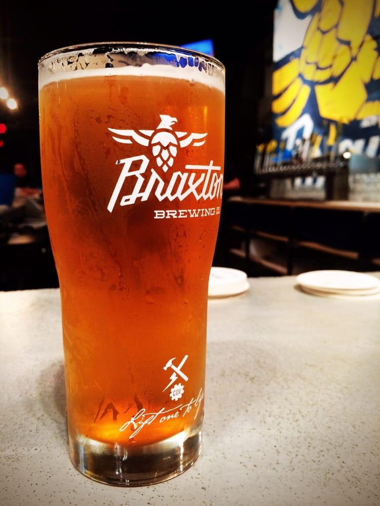 A glass of beer from Braxton Brewing (photo: Riverside Food Tours