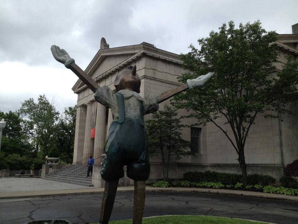 Pinocchio statue at Cincinnati Art Museum (photo: CincinnatiUSA.com)