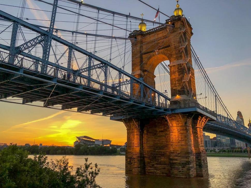 John A. Roebling Suspension Bridge (photo: @cincygirl.54)