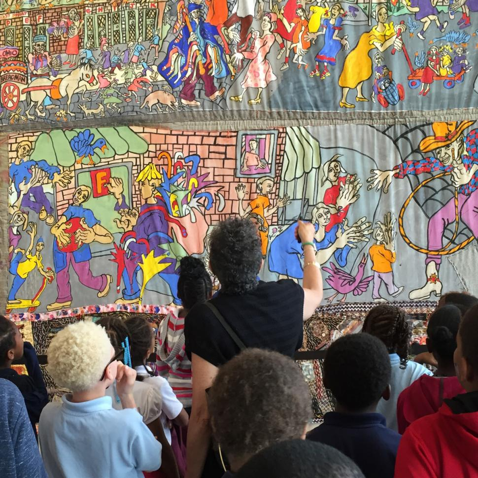 People admiring works of art at the National Underground Railroad Freedom Center (photo: National Underground Railroad Freedom Center)