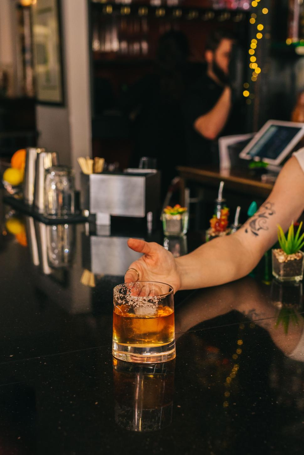 Smoked Old Fashioned cocktail at Bouquet (photo: The B-Line)