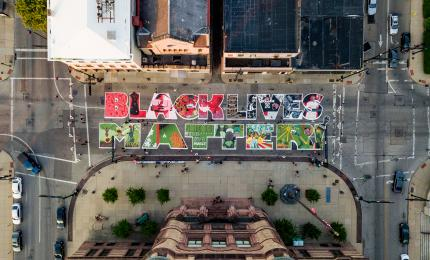 Black Lives Matter Mural (photo: Empower)