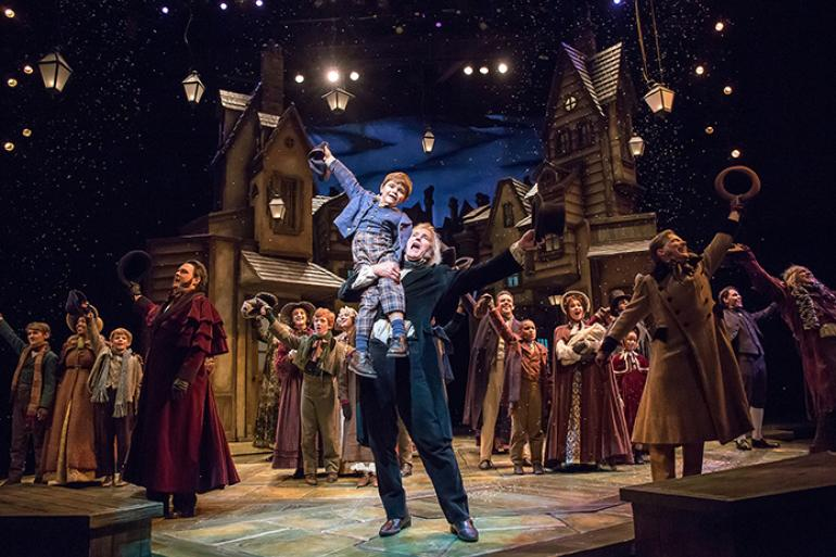 The cast of A Christmas Carol, 2016, Playhouse in the Park (photo: Mikki Schaffner)