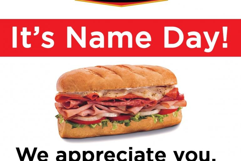 Firehouse Subs Thanks Guests by Name with Special Offer Photo #0