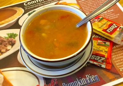 Frisch's vegetable soup (photo: Erin Woiteshek)