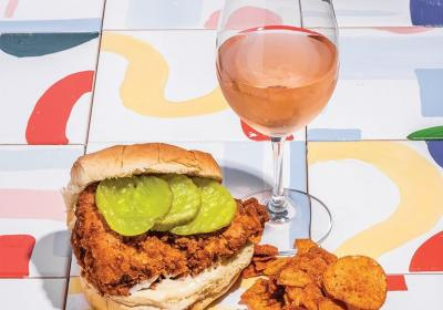 Fried chicken and rosé at Please (photo: @pleasecinci)